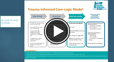 Trauma-Informed Care in Youth-/Young Adult-Serving Organizations webinar screenshot [enable images to see]